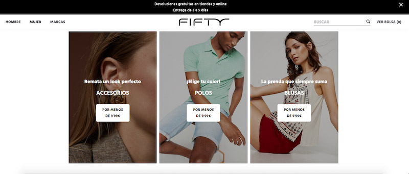 Ropa cortefiel en Fifty Factory
