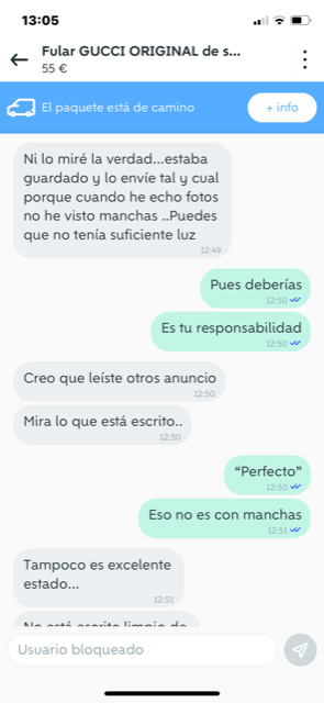 Chat de Wallapop